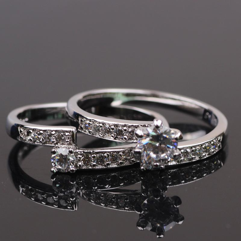 24k white gold filled cut cz womens wedding