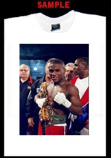 Floyd MAYWEATHER Jr Custom Photo Tshirt Boxing Jr T295