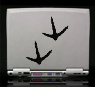 12) Turkey Tracks Hunting Die Cut Vinyl Decal Sticker