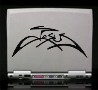 Jesus Signature Christian Die Cut Vinyl Decal Sticker