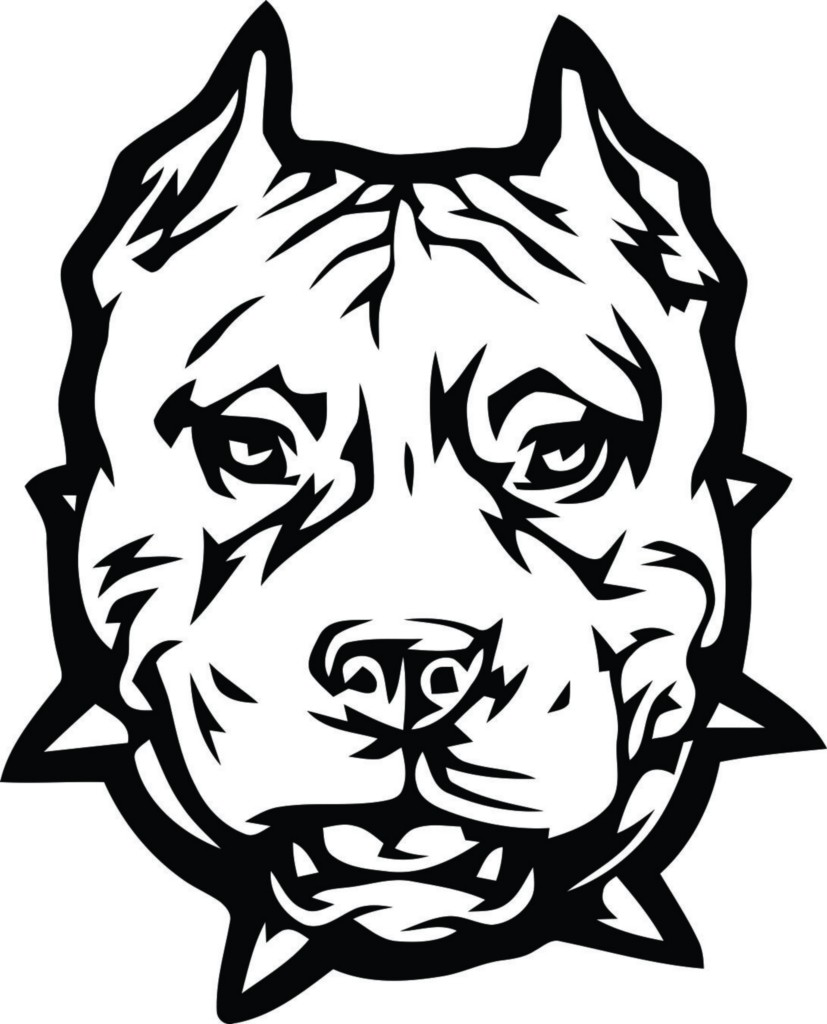 pit bulls coloring pages - photo#33