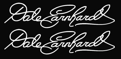 Dale Earnhardt Signature Nascar Die Cut Vinyl Decal