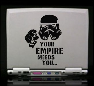 Star Wars Empire Stormtrooper Funny Die Cut Vinyl Decal
