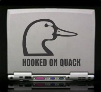 Hooked on Quack Duck Hunt Die Cut Vinyl Decal Sticker