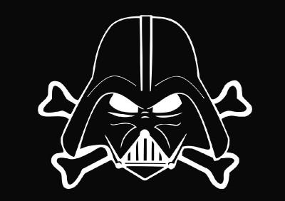 Star Wars   Jolly Vader Die Cut Vinyl Decal Sticker