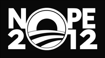 Nope 2012 Obama President Die Cut Vinyl Decal Sticker
