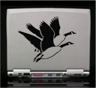 Flying Geese Hunting Die Cut Vinyl Decal Sticker
