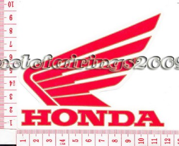 Honda Motorcycle Wing Decal