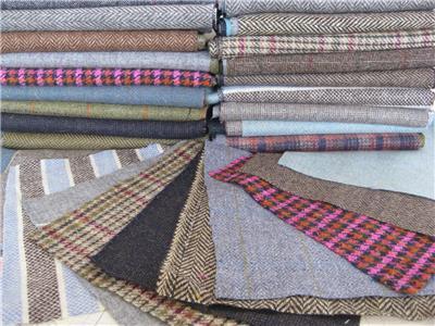 Scottish Tweed Remnants Offcuts Patchwork Rag Rug Crafts