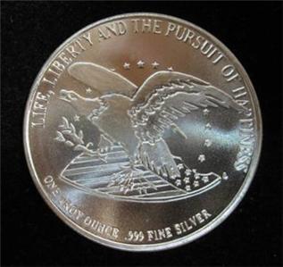 1991 Chrysler Bill Of Rights Silver Commemorative 1 Oz