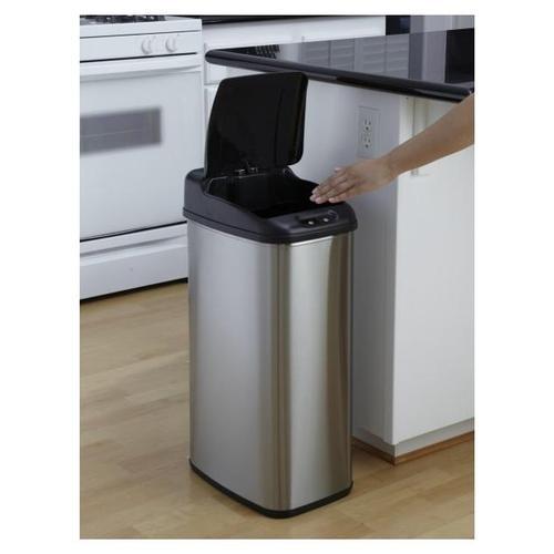 2 motion sensor infrared stainless steel kitchen bathroom waste rubbish bin new ebay - Slim garbage cans for kitchen ...