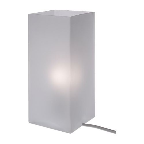 new ikea frosted glass table lamp light accent grono ebay. Black Bedroom Furniture Sets. Home Design Ideas