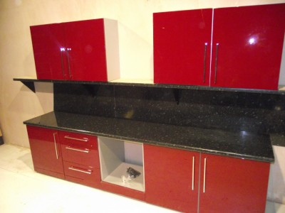 New complete high gloss red kitchen unit door cupboard ebay for Red gloss kitchen units