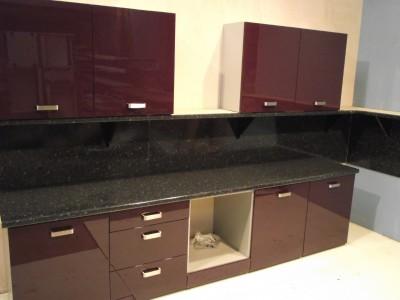 New high gloss aubergine kitchen wall base units ebay for Aubergine kitchen cabinets
