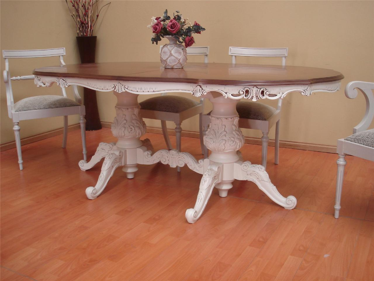 Antique French Shabby Style 10 Seater Extension Dining Room Table Only EBay