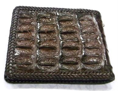 Biker Custom Crocodile Alligator Hornback Skin Leather