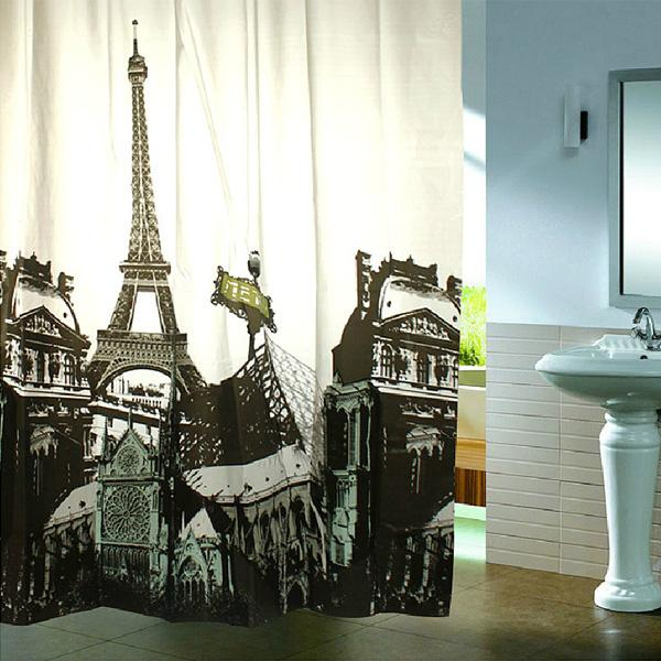 multiple style shower curtain polyester with hooks ebay. Black Bedroom Furniture Sets. Home Design Ideas