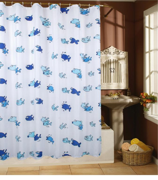 Sea Marine Life Fish Shower Curtain 180cm X 200cm