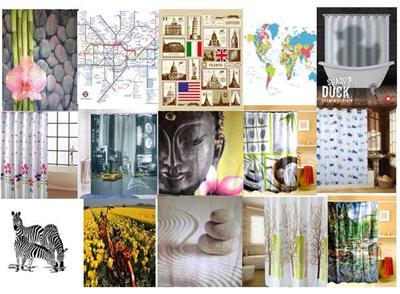 mehrere stil shower vorh nge polyester mit haken ebay. Black Bedroom Furniture Sets. Home Design Ideas