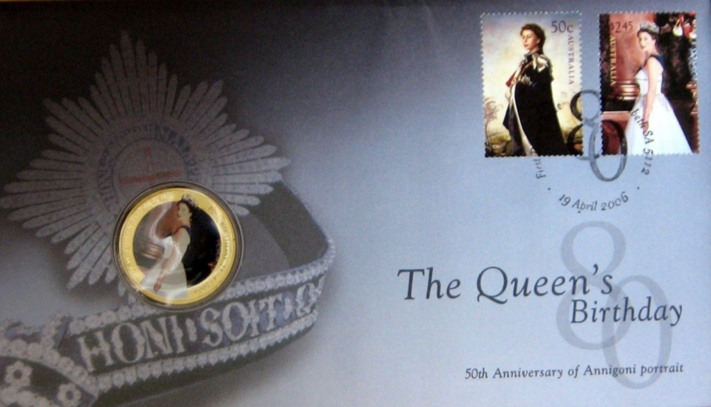 QUEENS-BIRTHDAY-2006-PNC-STAMP-AND-COIN-COVER