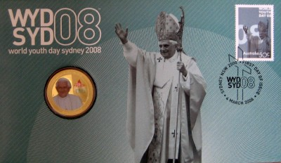 WORLD-YOUTH-DAY-2008-PNC-STAMP-AND-COIN-COVER