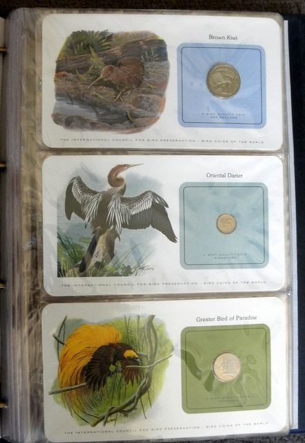 BIRD-COINS-OF-THE-WORLD-FRANKLIN-MINT-LIMITED-EDITION-31-COINS-IN-ALBUM