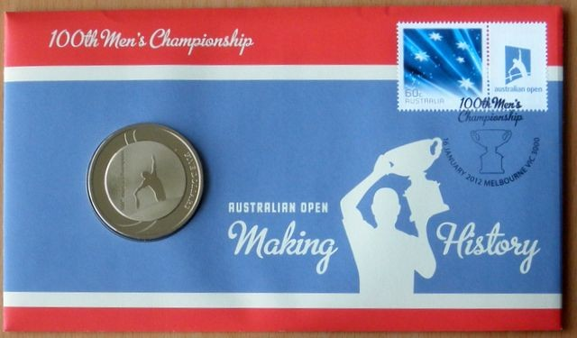 3-X-AUSTRALIA-OPEN-100TH-MENS-TENNIS-CHAMPIONSHIP-2012-PNC-STAMP-5-COIN-COVER