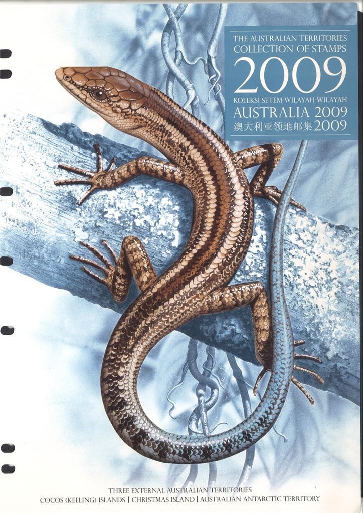 2009-AUSTRALIAN-TERRITORIES-STAMP-YEAR-COLLECTION-5-STAMPS-4-MINI-SHEETS