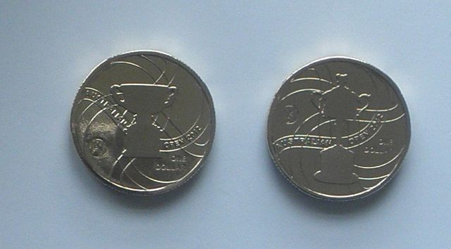 2012-AUSTRALIAN-TENNIS-OPEN-2-X-1-UNC-MINT-COIN-NOT-ISSUED-FOR-CIRCULATION