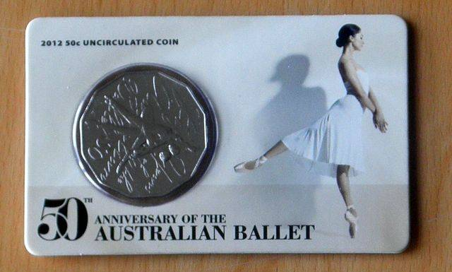 2012-50TH-ANNIVERSARY-OF-THE-AUSTRALIAN-BALLET-UNCIRCULATED-50-CENT-COIN-ON-CARD
