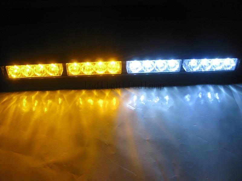 truck emergency lightbar strobe dash light deck tow lights white amber. Black Bedroom Furniture Sets. Home Design Ideas