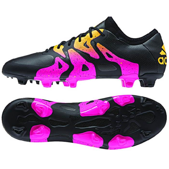 adidas x 15 1 fg ag men 39 s soccer cleats football shoes black pink gold. Black Bedroom Furniture Sets. Home Design Ideas