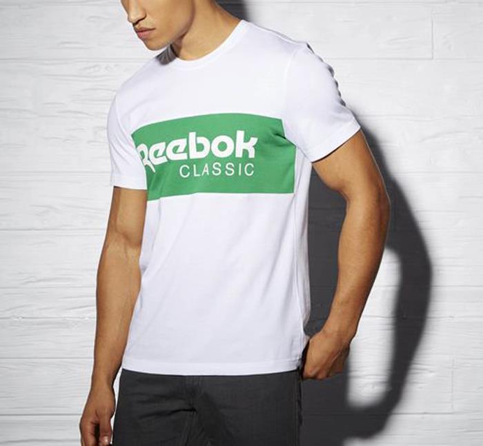 2016 May Reebok Classics Foundation Archive Stripe Men's Tee T Shirt