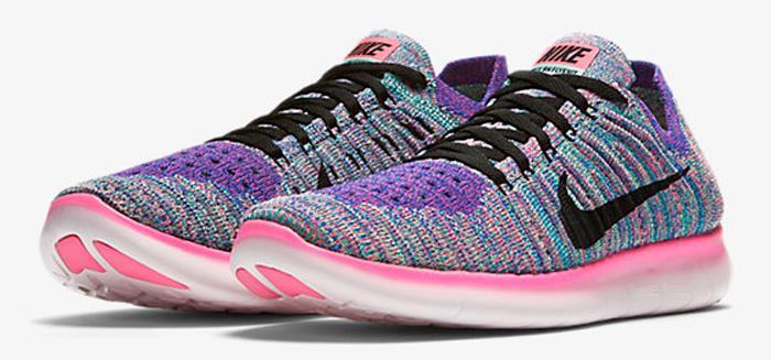 Nike Free Rn Flyknit Running Sneaker Womens