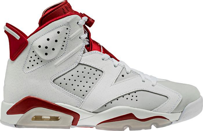 1703 Nike Air Jordan Retro 6 Alternate Mid Men's Basketball Shoes 384664-113
