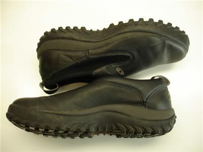 salomon clogs mens 9 m black leather slip on shoes