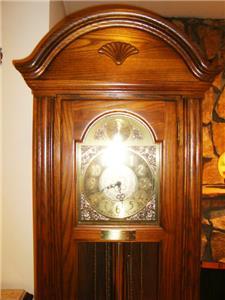 Grandfather Clock-Seth Thomas-Oak Cabinet-Westminster ...