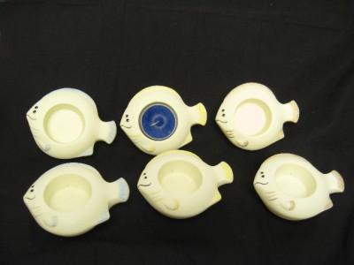 6 partylite fish tea light candle holders floating. Black Bedroom Furniture Sets. Home Design Ideas
