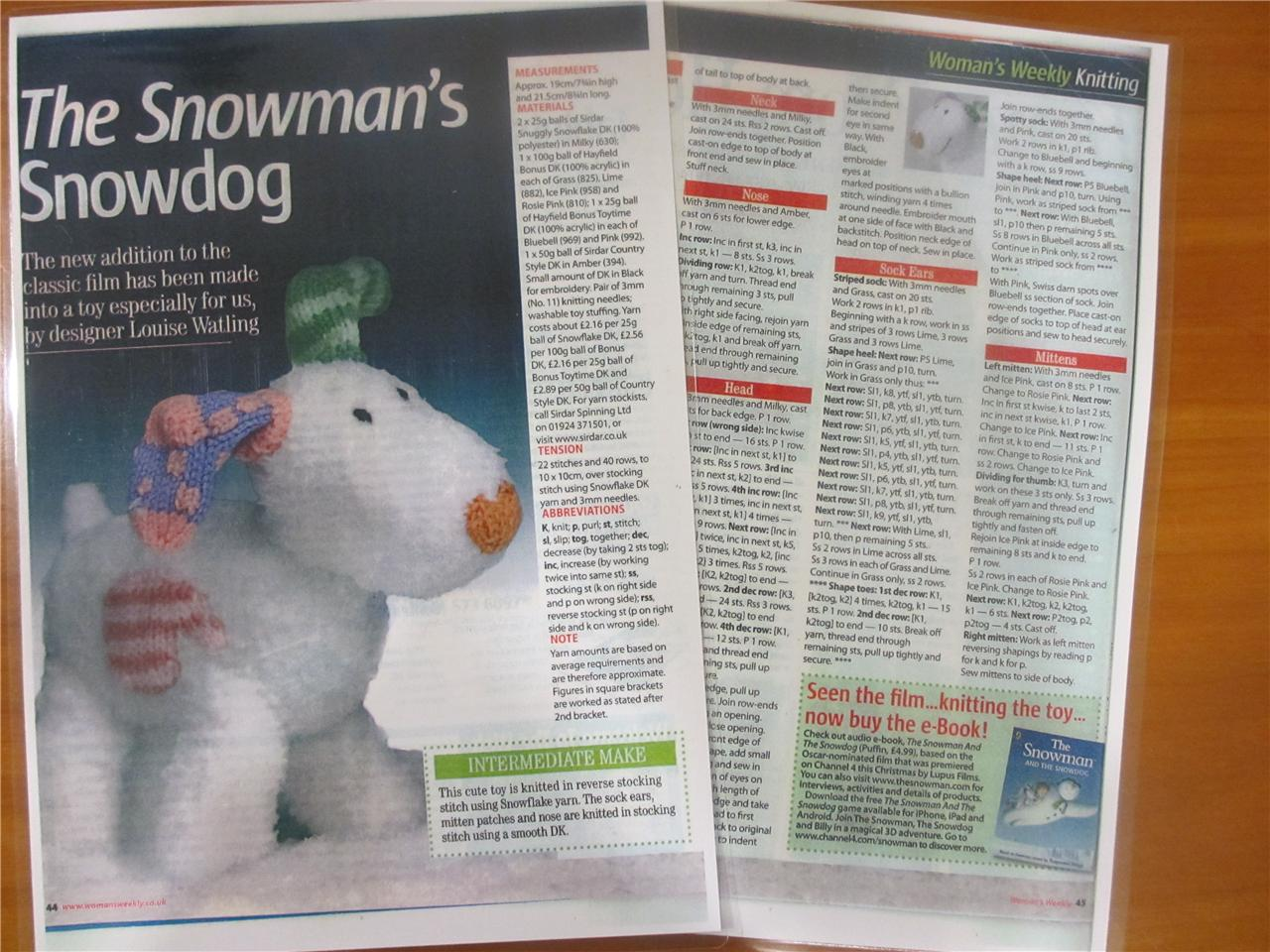 Snow dog from the snowman childrens movie book by raymond briggs bankloansurffo Choice Image