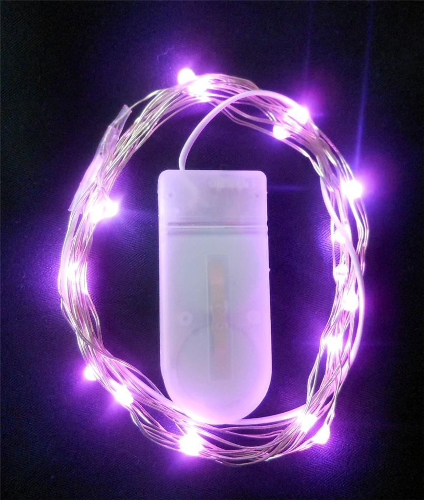 Pink String Lights Battery Operated : LED Waterproof String Light * Battery Operated White*Pink*Purple 2 metres eBay