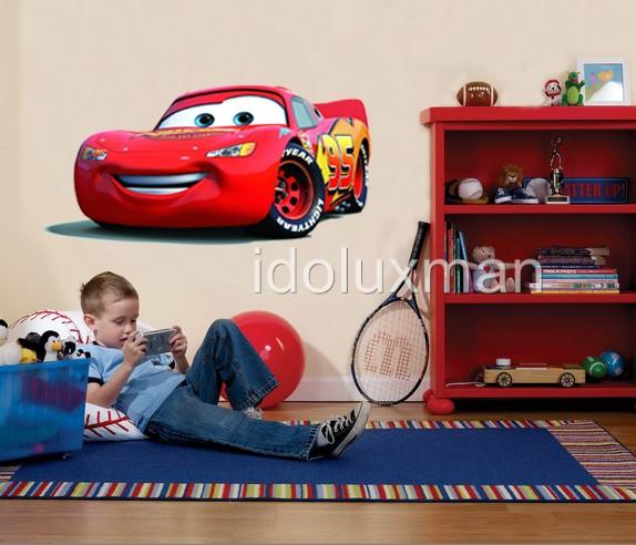 pics photos lightning mcqueen wall decal large disney cars wall stickers boys lightning mcqueen