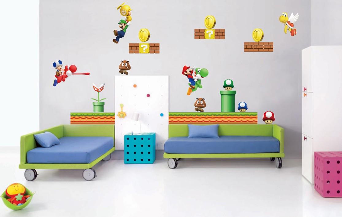 Mario Bedroom Decor Super Mario Wallpaper For Bedroom