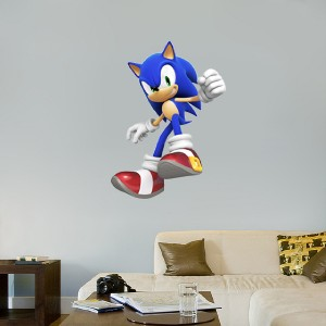 huge sonic the hedgehog removable decal wall sticker art