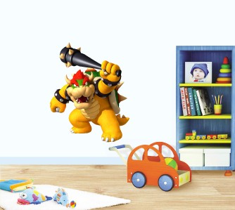SUPER MARIO Bros BOWSER Removable WALL STICKER Decal Home Decor Art