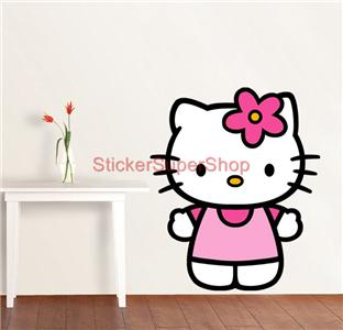 HELLO KITTY   WALL STICKER CHOOSE DESIRED SIZE: You May Choose Between 3  Different Sizes: 1. REGULAR: ONE 50x42 Cm Sheet (20 Part 7