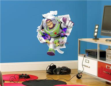 Elegant BUZZ LIGHTYEAR IS BURSTING OUT OF YOUR WALL   WALL STICKER Part 4