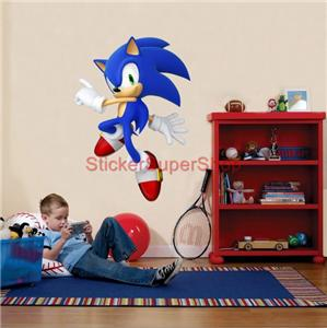 Choose size sonic decal removable wall sticker home decor video game no 2 ebay - Sonic wall decals ...