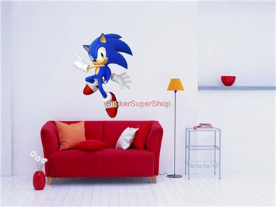 SONIC THE HEDGEHOG - WALL STICKER CHOOSE DESIRED SIZE You may choose between 4 different sizes