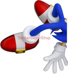SONIC THE HEDGEHOG   WALL STICKER CHOOSE DESIRED SIZE: You May Choose  Between 4 Different Sizes: