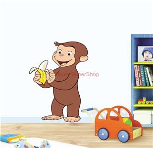 CURIOUS GEORGE - WALL STICKER